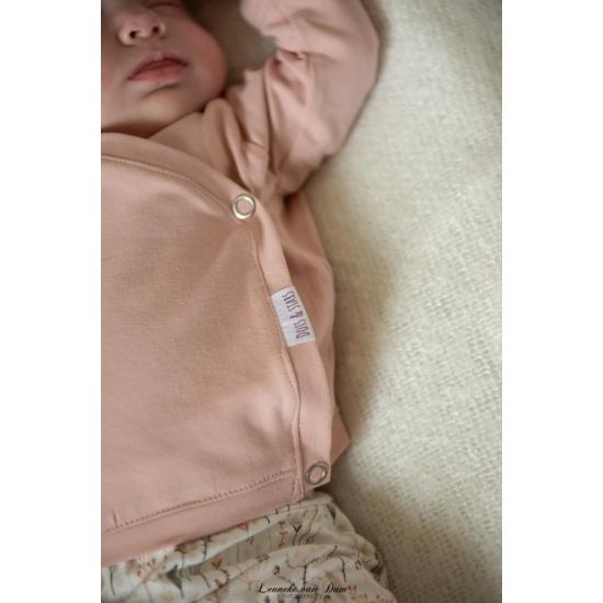 Newborn overslagtruitje | Tricot in kleur naar keuze