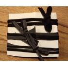Strikbandjes set van 3 zwart-grijs-glitter