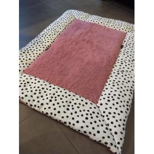 Boxkleed Pink & black dots